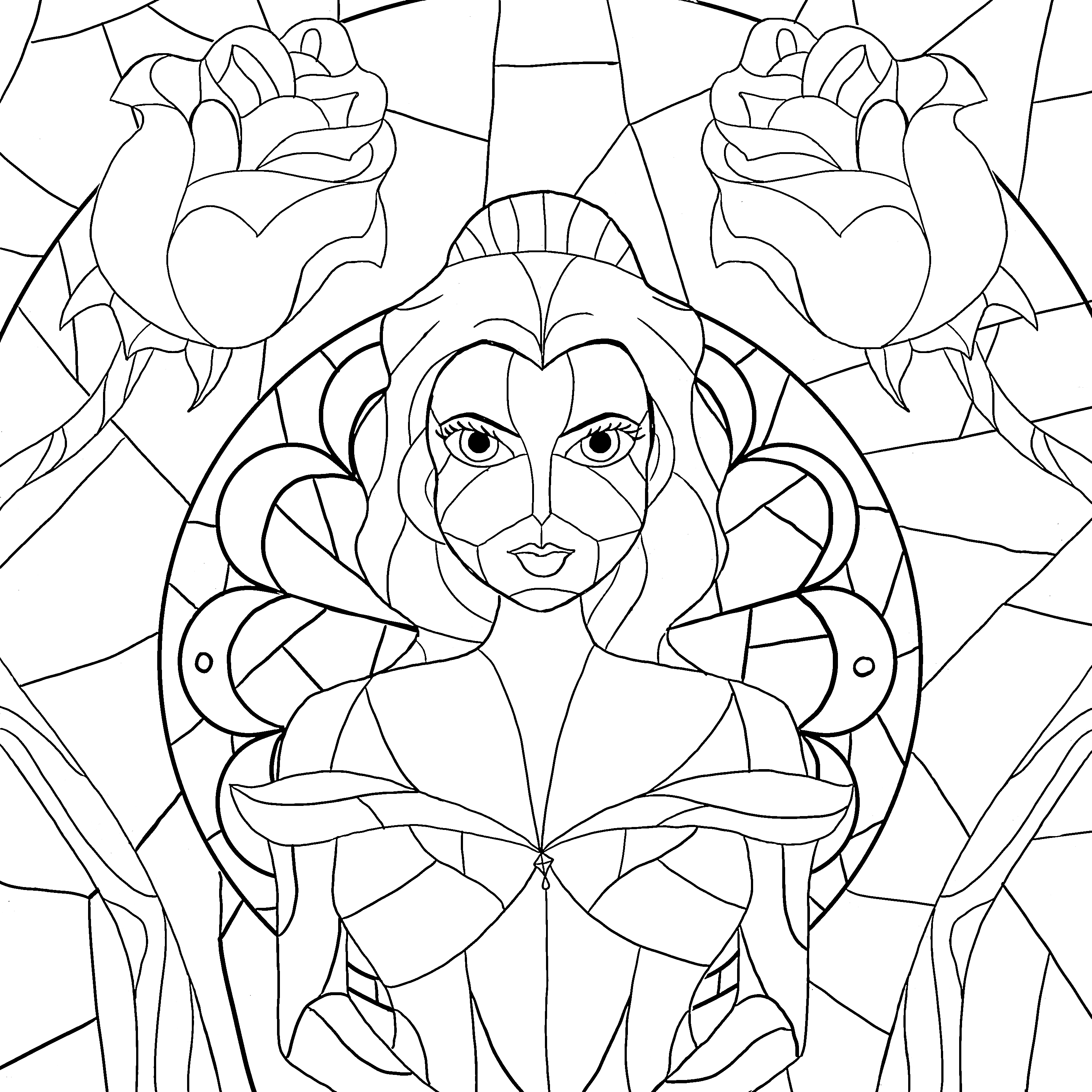 Beauty and the Beast Coloring Page – The Smarty Scoop